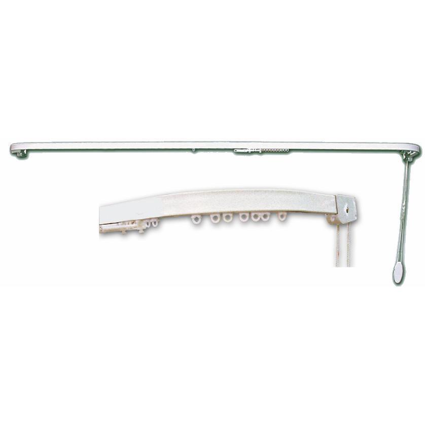 Scorr.alluminio Con Curve Bianco Cm 160