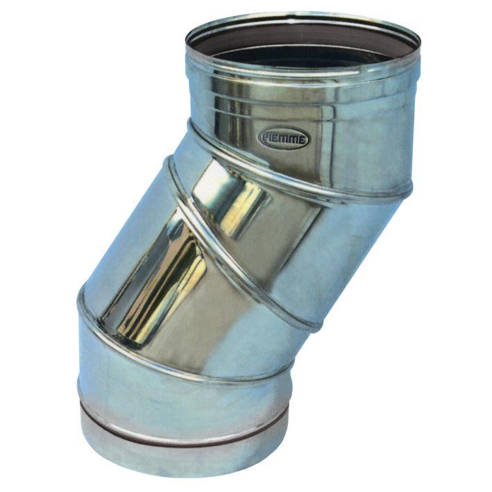 Gomito Regolabile X Canna Fumaria Acciaio Inox diametro 180mm
