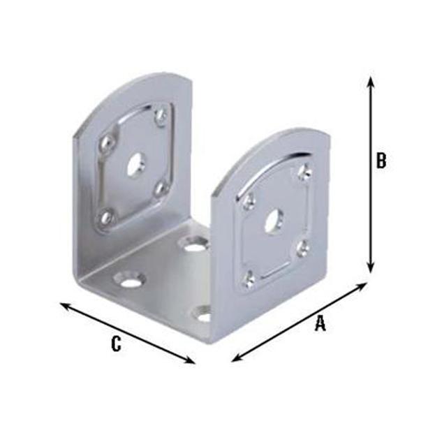 Staffa Montaggio X Travi Inox varie misure (761 In)PZ.4