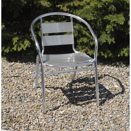 Sedia Alluminio C/braccioli