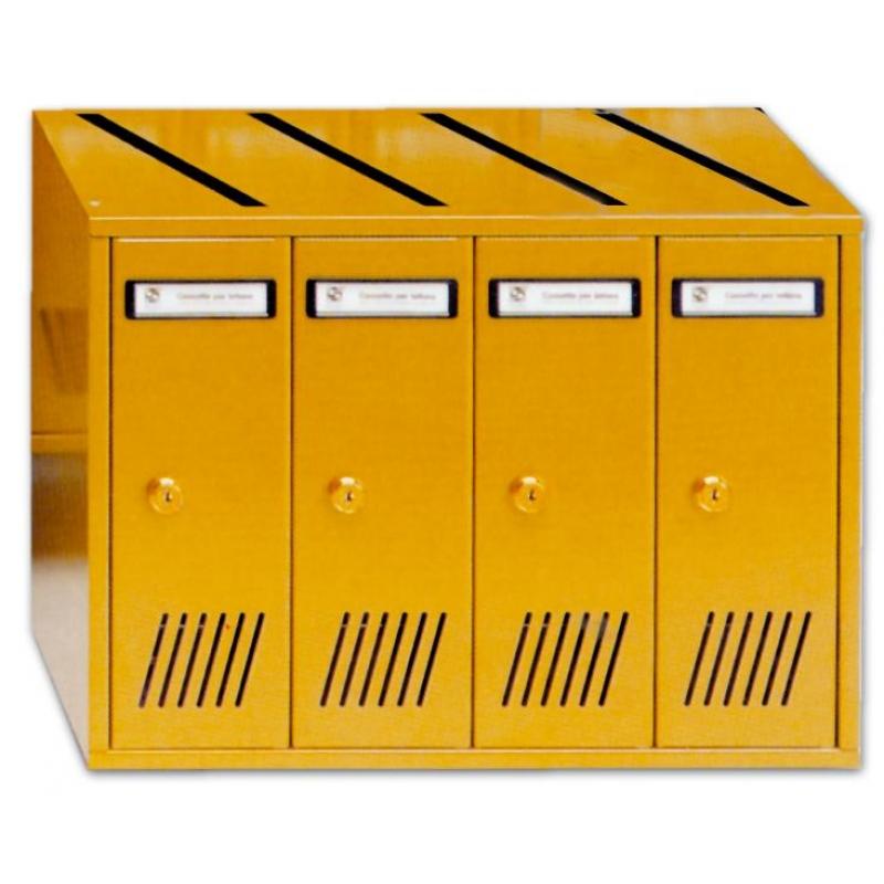 Cassetta Postale Ad Elementi Silmec 4p Bronzo (31704)