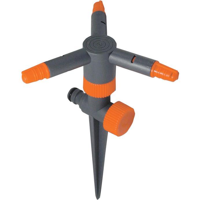 Irrigatore rotante papillon 3 bracci c puntale cf in for Irrigatore rotante